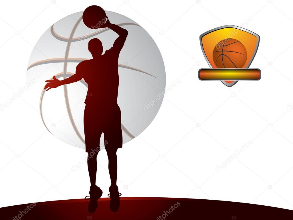 Basketball background - vector illustration  Stock Vector #12658458