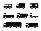 Transport truck icons — 图库矢量图片