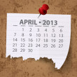 Calendar for 2013 vector — Stock Photo #13847141