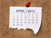 2013 矢量的日历 — 图库照片