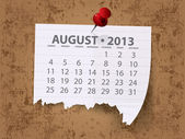 Calendar for 2013 vector — Stock Photo