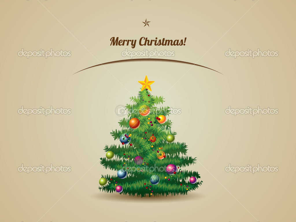 Christmas tree postcard — Stock Vector #13867082