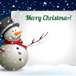 Christmas postcard with snowman — Stock Vector #14581897