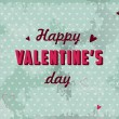 Valentines day postcard vector — Vettoriali Stock