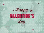 Valentines day postcard vector — Stock Vector