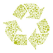 Green recycle icon — Stock Vector