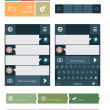 Flat user interface elements - Stok Vektr