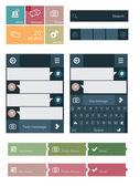 Elementos de la interfaz de usuario plana — Vector de stock