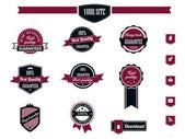 Etichette di qualità e garanzia premium vintage retrò — Vettoriale Stock