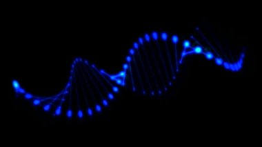 3D Rotating DNA spiral — Video Stock
