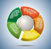 Circle multicolor graph — Stock Vector