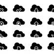 Stock Vector: Vector Icons for Cloud Computing