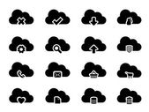 Vector Icons for Cloud Computing — Stok Vektör