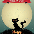 Stok Vektör: Happy Halloween Greeting Card