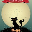 Stock vektor: Happy Halloween Greeting Card
