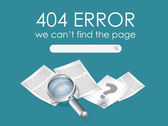 404 Page not found vector — Stock Vector