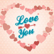 Vintage Valentine's Day Background With Hearts — Imagens vectoriais em stock