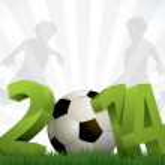 2014 soccer poster — Stock Vector