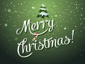 Merry Christmas lettering Greeting Card — Vector de stock