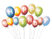 Ballons joyeux anniversaire — Vecteur