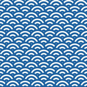 Wave simple seamless blue pattern — Stock Photo