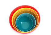 Few bowls in different colors — Stock Photo