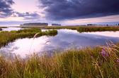 озеро в дренте на рассвете — Стоковое фото