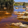 Acidic rio ()river Tinto in Niebla (Huelva) — Stock Photo