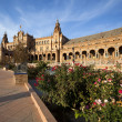 Beautiful Plaza Espana in Sevilla — Stock Photo