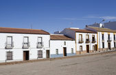 Typical buildings in Spanish small towns — Stock Photo