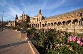 Vackra plaza espana i sevilla — Stockfoto