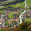 Stock Photo: Little alpine town Wallgau