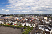 View on Maastricht city from top of Red tower — Stock Photo