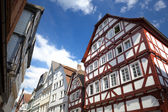 View on traditional German homes in Marburg — Stock Photo