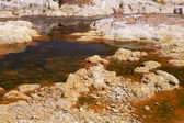 Acidic orange rio (river) Tinto in Niebla (Huelva) — Stock Photo