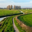 River in Dutch fields — Stock Photo