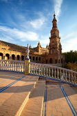 Tower at Plaza de Espana, Sevilla — Stock Photo
