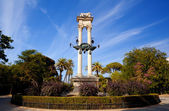 Columbus monument in Sevilla — Stock Photo