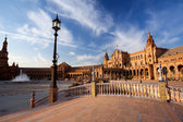 Sunny Plaza de Espana in Sevilla — Stock Photo