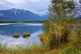 Barmsee lake in autumn Alps — Stock Photo