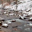 Mountain river in snow — Stock Photo #23301326