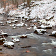 Mountain river in snow — Stock Photo