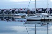 Jachthaven Reitdiep in Groningen — Stock Photo