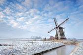 Windmill in winter — Stock Photo