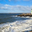 Stock Photo: Lighthouse on North sea