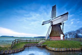 Dutch windmill in winter — Stock Photo