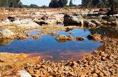 Acidic river Tinto in Niebla (Huelva) — Stock Photo