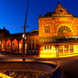 Central Station in Groningen in dusk — Stock Photo