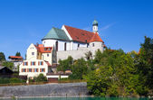 Church in Bavarian town Fussen — Stockfoto