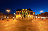 City Hall in Groningen at night — Stock Photo